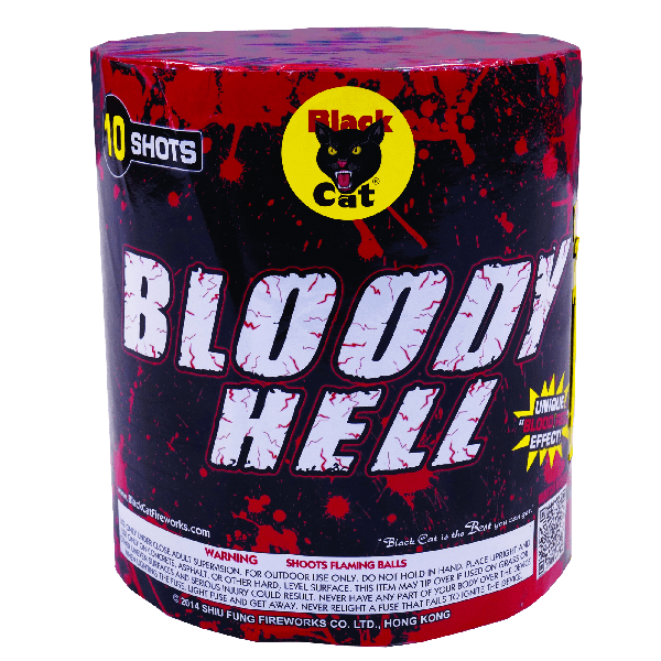 Bloody Hell 10's   Black Cat Fireworks