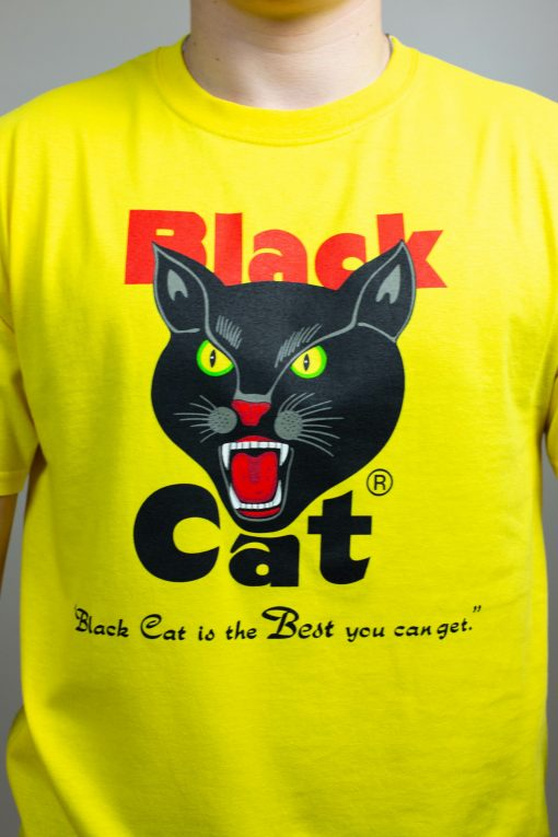 black cat fireworks t-shirt